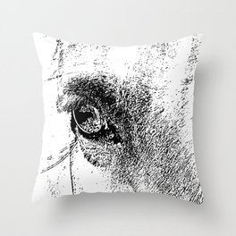 Eye of Horse Throw Pillow