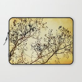 Black and Gold Tree Abstract Laptop Sleeve