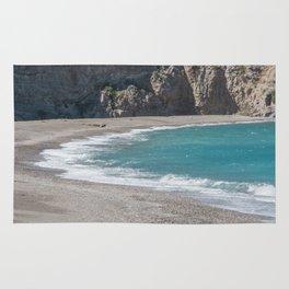Empty beach Rug