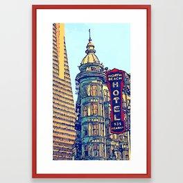North Beach, San Francisco #068 by Mark Gould Framed Art Print