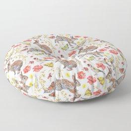 Bunny Meadow Pattern Floor Pillow