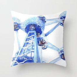 Atomium II Throw Pillow