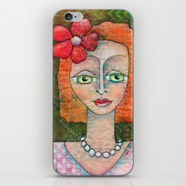 Pearl Necklace iPhone Skin