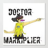 markiplier Canvas Prints featuring Doctor Markiplier by doodle bags