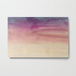 Sky Watercolor Texture Abstract 595 Metal Print