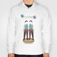 twins Hoodies featuring TWINS by Nazario Graziano