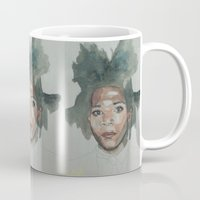 basquiat Mugs featuring Basquiat by Danielle Lima