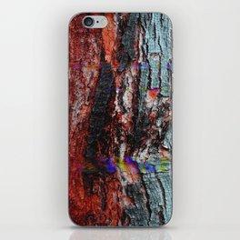 Glitch Wood iPhone Skin
