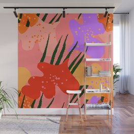 water lily pads and plant Wall Mural