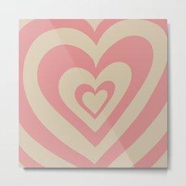Love Power - soft pink Metal Print