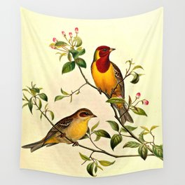 Red-Headed Bunting Wall Tapestry