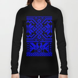 Cross-stitch - Blue Long Sleeve T-shirt