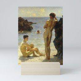 Lovers of the Sun by Henry Scott Tuke Mini Art Print