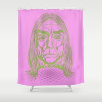 "tim shumate Shower Curtains featuring ""Ready to Die"" by Tim Lukowiak by Consequence of Sound"