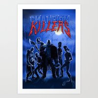 studio killers Art Prints featuring Champion Killers - The Killers by Cazzbot