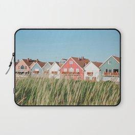 Stripes Beach Houses Laptop Sleeve