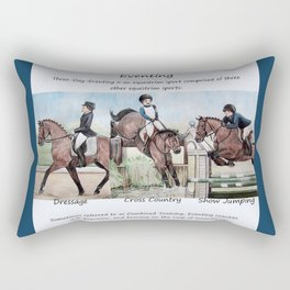 Three Day Eventing: Sport of the Brave Rectangular Pillow