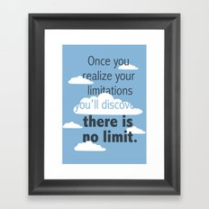 No Limit Framed Art Print