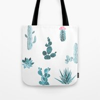 desert Tote Bags featuring Desert by Annet Weelink Design