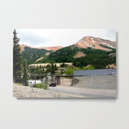 1880's Gold Rush - The Idarado Mine and Red Mountains Metal Print