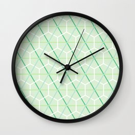 Mint Green Honeycomb Check Wall Clock