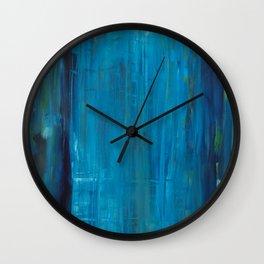 blue vertical Wall Clock