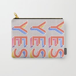 YES - typography Carry-All Pouch