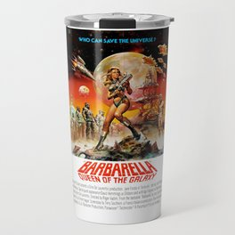 Barbarella - Queen Of The Galaxy - 1968 - Who Can Save the Universe - Vintage Retro Movie Poster, Fi Travel Mug