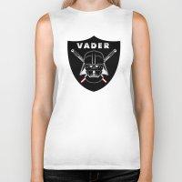sport Biker Tanks featuring Vader sport logo by Buby87