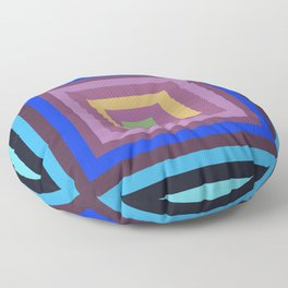 Geometric Stylish  Art Squares Design for Fine Homes Decoration. Floor Pillow