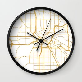 MINNEAPOLIS MINNESOTA CITY STREET MAP ART Wall Clock