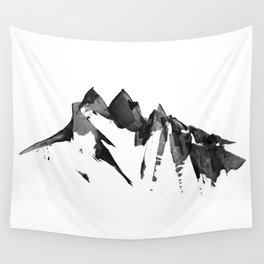 Mountain Painting | Landscape | Black and White Minimalism | By Magda Opoka Wall Tapestry