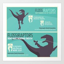 SEXY Velociraptors Art Print