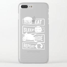 Eat Sleep Ride Repeat - Motorcycle Biker Street Clear iPhone Case