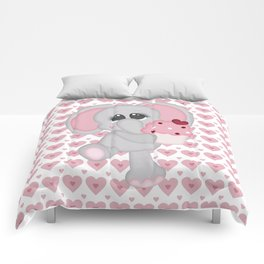 Baby Elephant Loves Cupcakes Comforters