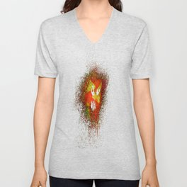 Space face Yellow Unisex V-Neck