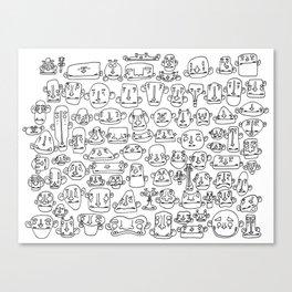 Morph Heads Canvas Print
