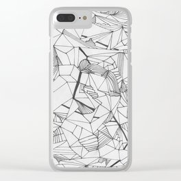 Abstract Template for Adult Coloringbook Clear iPhone Case