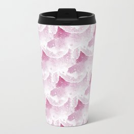 Watercolour pink clouds Travel Mug