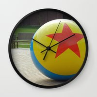 toy story Wall Clocks featuring Toy Story Ball by Jillian