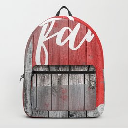 Ohio Map Family Barn Wall Painting Backpack