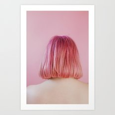 vanessa (pink hair) Art Print