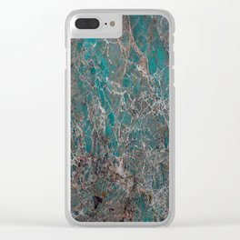 Amazonite Clear iPhone Case