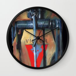 mousetrap / pop art, still life, object Wall Clock