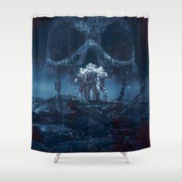 Planet of Doom Shower Curtain