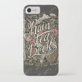 Rain, Tea & Books - Color version iPhone Case
