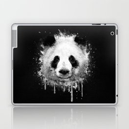 Cool Abstract Graffiti Watercolor Panda Portrait in Black & White  Laptop & iPad Skin