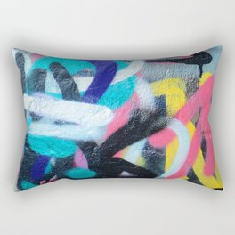 Street Art Graffiti Photography by Dominic Joyce Rectangular Pillow