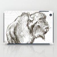 bison iPad Cases featuring Bison by Tim Kleyn
