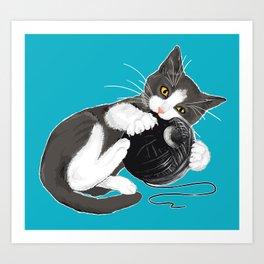 Death Star Kitty Cat Art Print